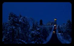 Silvester im Erzgebirge - Oberwiesenthal Fichtelberg und Hotel Fichtelberghaus bei Nacht