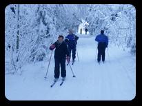 Silvester im Erzgebirge - Skifahren Skilift Skiloipe
